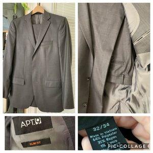 Men's Apt 9 Slim fit suit in charcoal gray